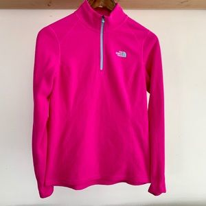 The North Face NWOT fleece zip pull over Size M